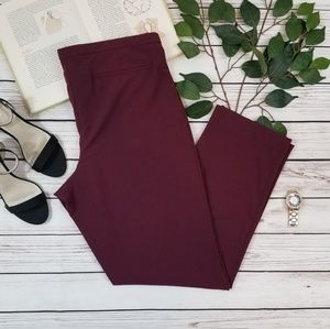 Lane Bryant Maroon Career Dress Pants